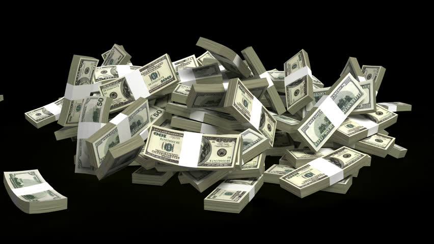 Falling Money, 3d Animation Stock Footage Video 614629 ...