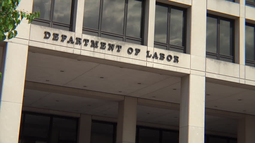 Washington Dc March 15 2014 Department Of Labor Building Constitution Ave Flag Flutters