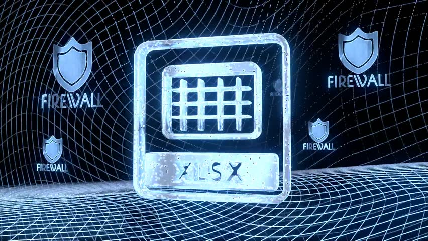 electronic internet 3d rendered animation of a xlsx symbol constructed out of electronic faces. Footage 1080p. A symbol xlsx builds up in the middle of the scene surrounded by digital data