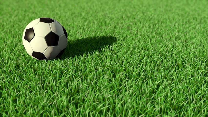 Soccer Ball Rolling On Grass Stockvideos & Filmmaterial ... Rolling Soccer Ball