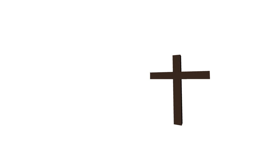 Cross of Fire on white background. Fire symbolizes God in Christianity.