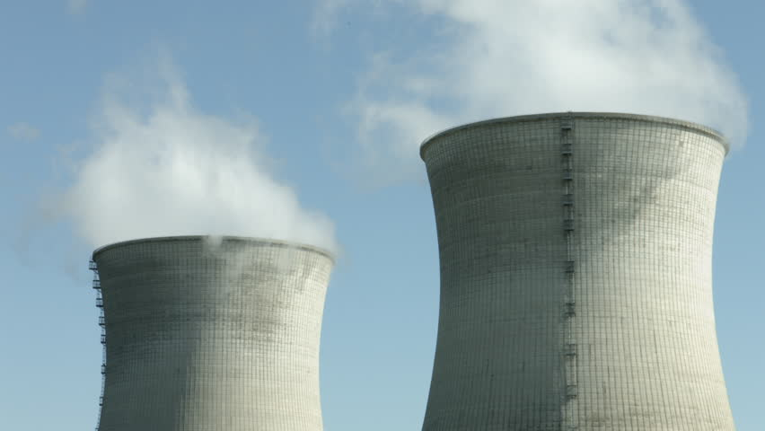 Cooling tower of nuclear power plant, 4k