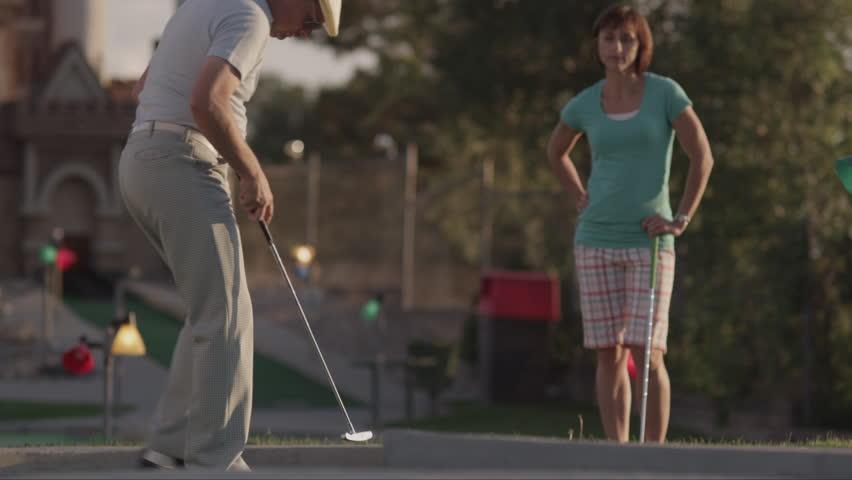 Girls Shoots Golf Ball From Asshole