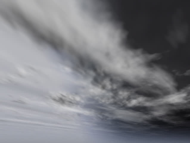 Swirling hurricane storm clouds moving across the sky. Ominous weather background. Original Animation