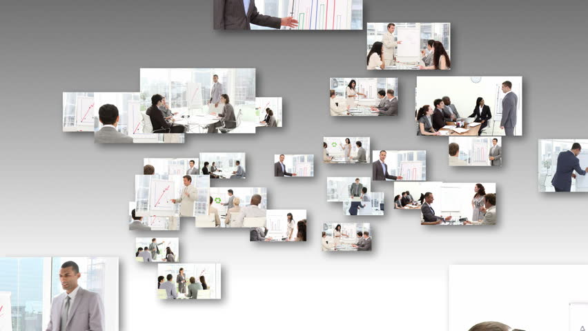 Montage of People Giving an office Presentation - HD stock video clip