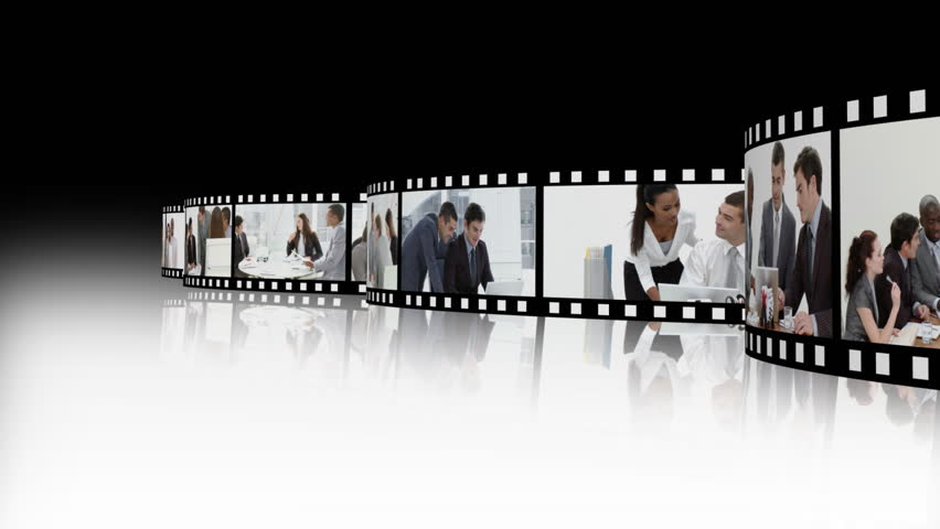 Montage of business team at work in the office - HD stock video clip