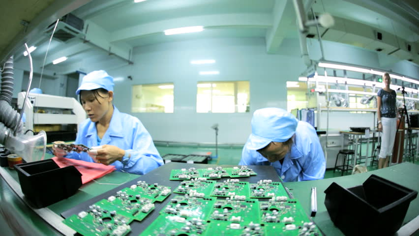 Electronic Assembly Workers : Circuitry stock footage video shutterstock