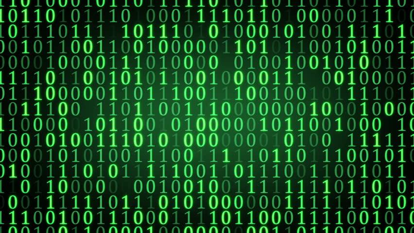 Matrix binary numbers background