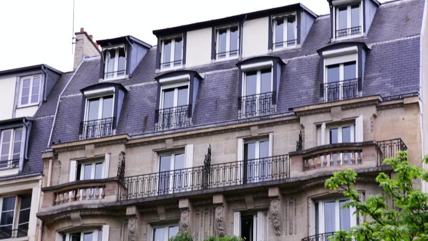 Establishing Shot. Apartment Building In Paris, France ...