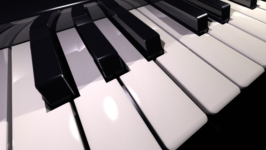 video showing a piano keyboard - HD stock video clip