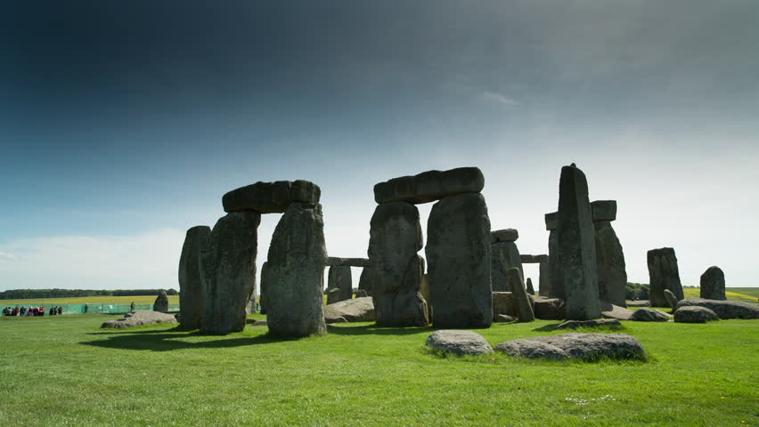 the iconic and world famous stone henge monolithic site in wiltshire, england