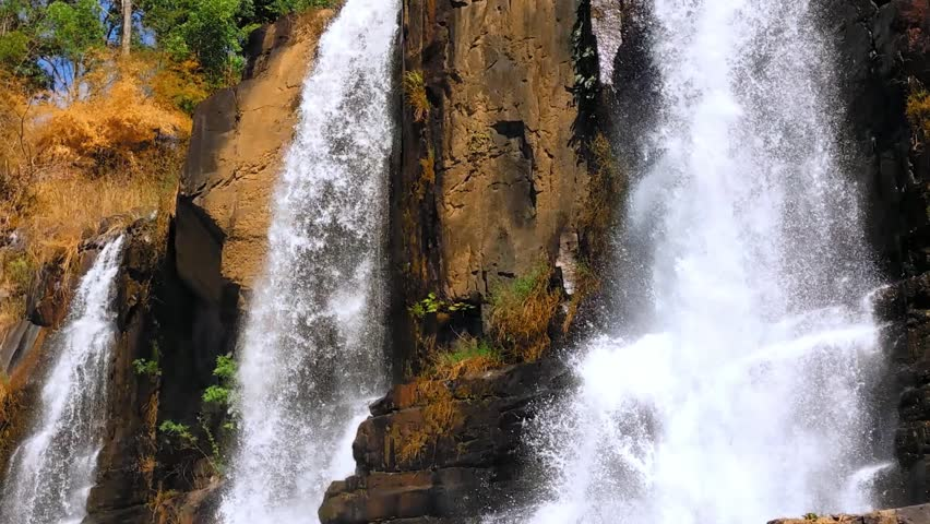 Pongour waterfall in nature national park in dalat for Waterfall environment