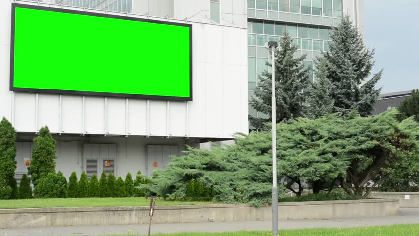 Animated Green Buildings : View through the car windscreen driving down hill on