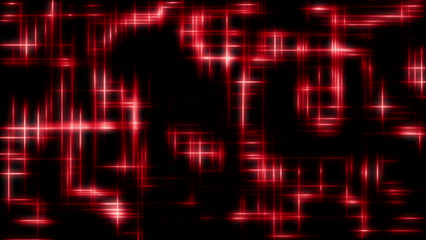 Hi tech abstract background HD stock footage. A grid like pattern motion background with bright red lights chasing around the screen.