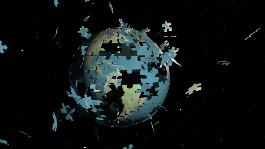 Earth Planet Jigsaw construction. Comes with the Alpha Matte.