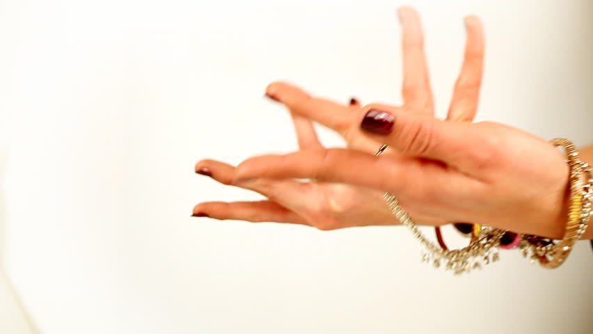 close-up of hands of oriental style dancer