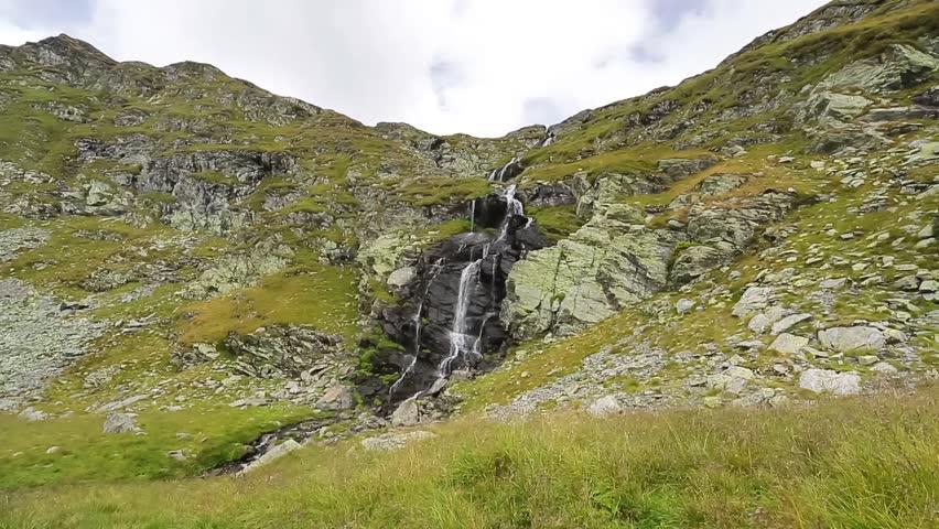 Capra Waterfall. Fagaras Mountains, Romania