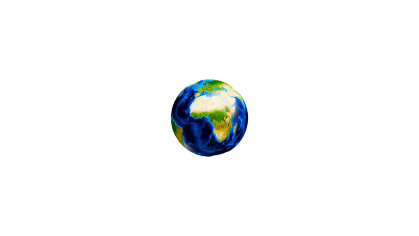 Video of a conceptual symbol of multiracial human hands surrounding the Earth globe Isolated on white background - HD stock footage clip