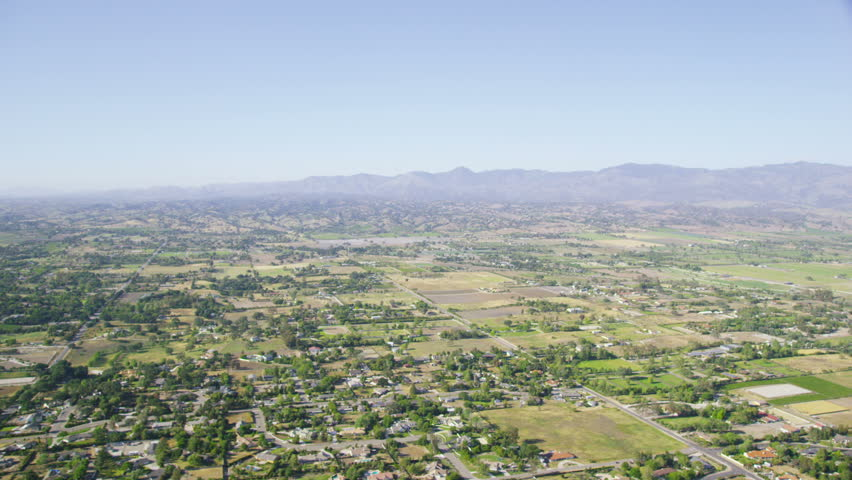 Aerial view of summer california countryside usa Usa countryside pictures