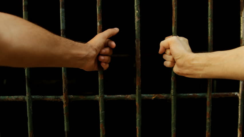 Hands On Prison Bars, Pulling Them, Metal, Jail, Crime, Despair, Point Of View