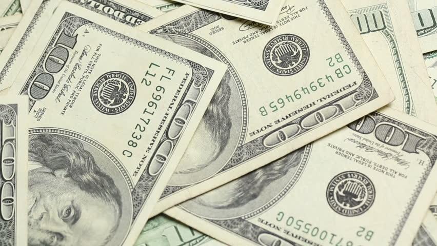 dollar bills falling on - photo #48