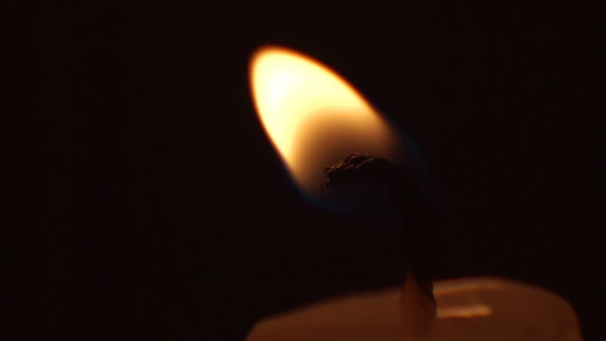 Lighting a candle with lighter in slow motion with sound