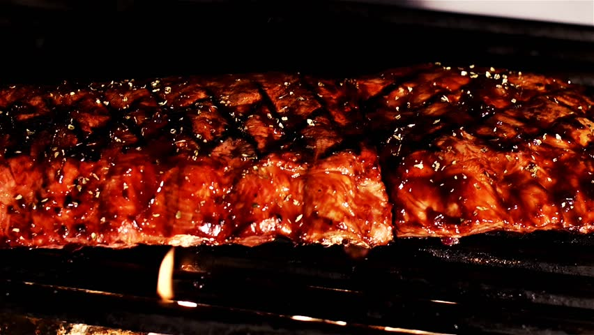 Summer BBQ Grill Baby Back Ribs