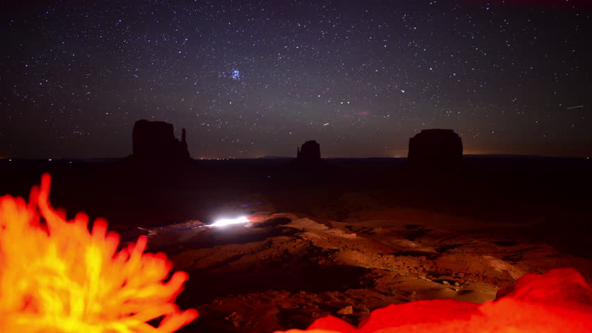 Monument Valley Milkyway 01 Time Lapse Dolly R