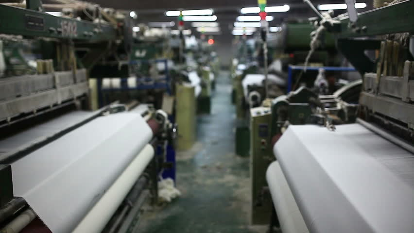 weaving factory with modern lathe machine