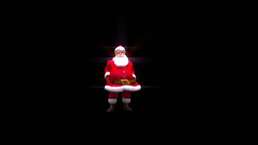 Santa throws snowball into camera transition, with alpha full hd version