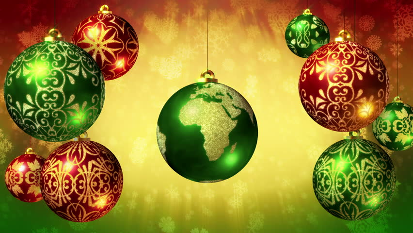 Free Illustration Background Christmas Red Gold: World Globe Rotating Red Background Stock Footage Video