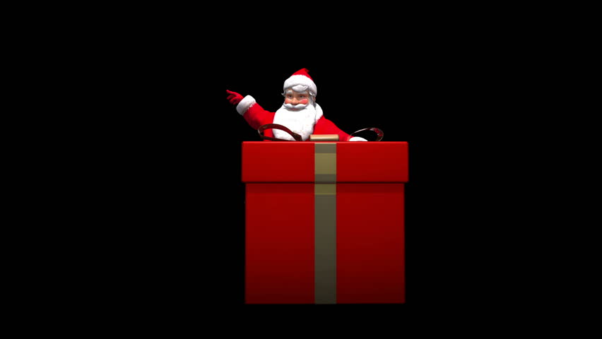 Santa gives speech or presentation. Comes with alpha