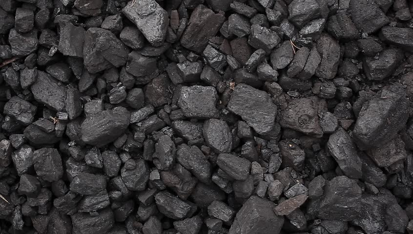 Charcoal coal pile footage