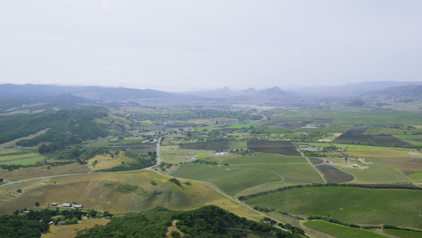 Aerial view of summer california countryside usa park Usa countryside pictures