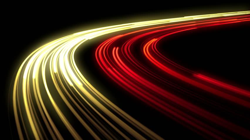 Beautiful View of Highway Lights. 4K. Loop. Time Lapse.