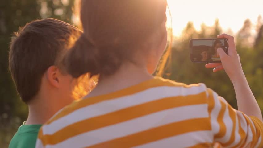 teen selfie Forest