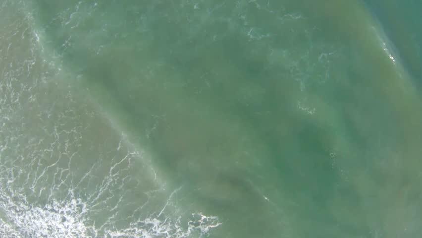 Aerial view of Mediterranean Sea beach, Israel. top view - HD stock footage clip