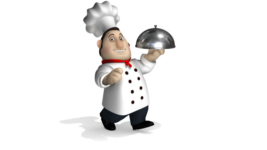 Chef Run. Seamless 3d Animation Stock Footage Video 806644
