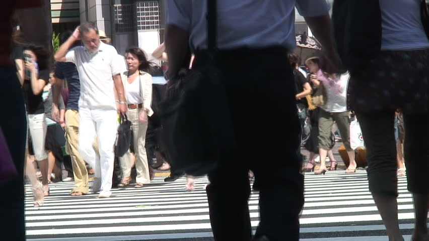 Tokyo crossing - HD stock video clip