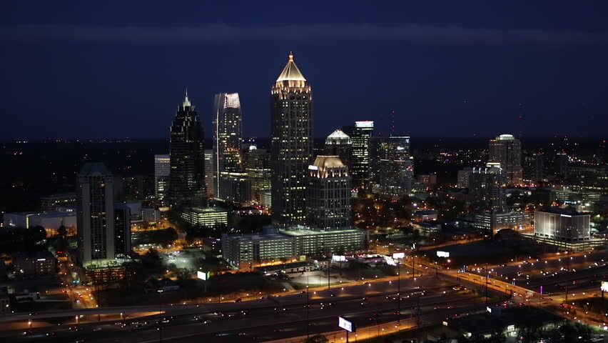 Atlanta (IL) United States  city photos gallery : ... Midtown Atlanta skyline, Georgia, United States of America Stock video