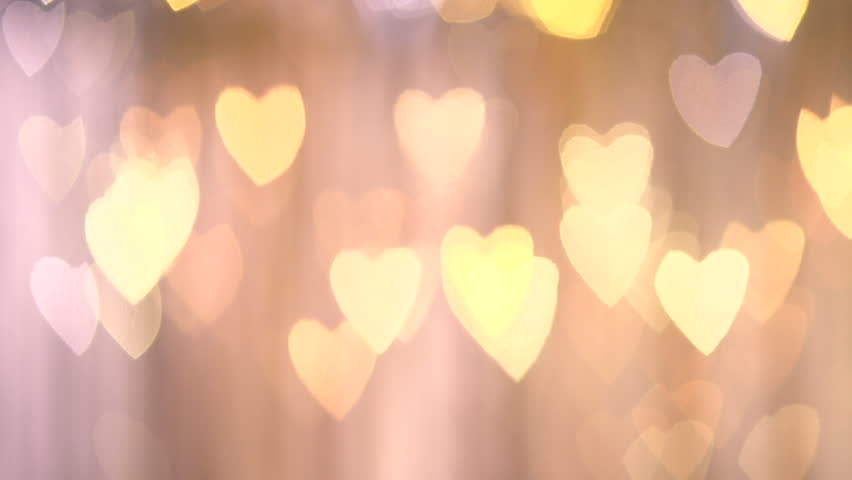 Bokeh Heart Shape Of Light Background Stock Footage Video: Heart Shape Bokeh. Full HD 1080 Video Footage. Stock