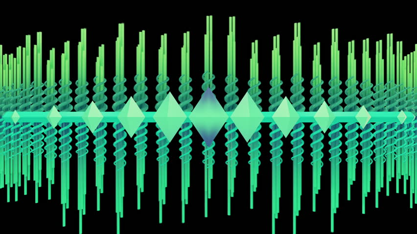 Abstract audio visualizer scrolling waveform beams. High definition motion background for music videos, broadcast, television, film, editing, live visuals, VJ loops, youtube shows, art installations.