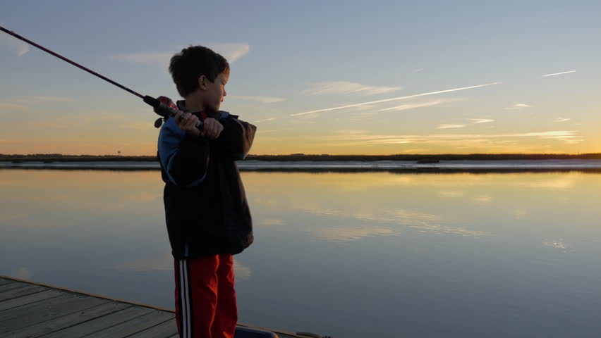 Old man fishing off dock stock footage video 2511464 for Little boy fishing