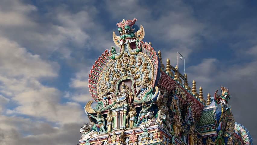 Meenakshi hindu temple in Madurai, Tamil Nadu, South India - HD stock footage clip
