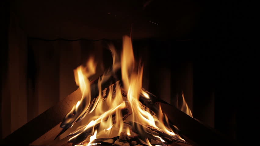 Fireplace Time Lapse Of Starting Fire Stock Footage Video