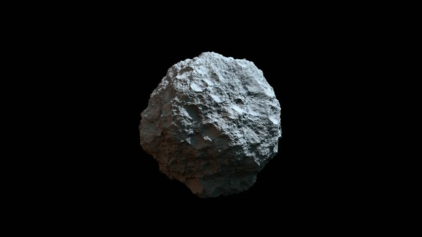 4k High Detailed Rotating Asteroid Or Meteor Texture ...