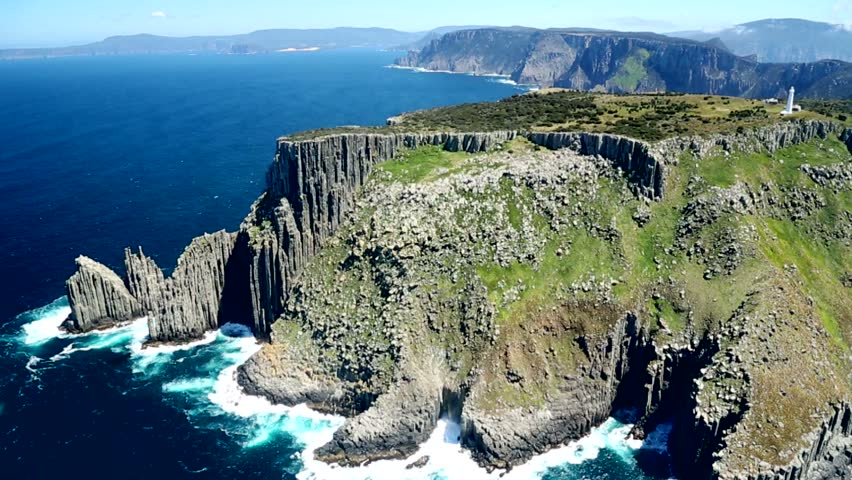 Aerial of majestic cliffs 1