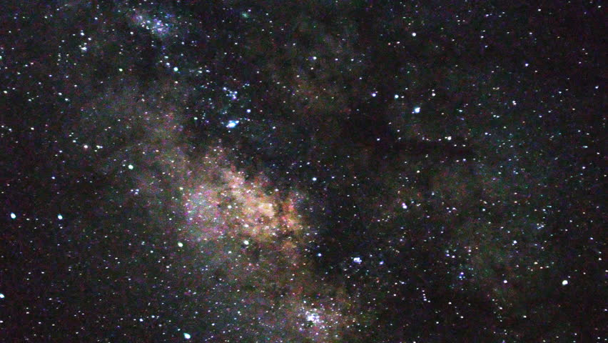 Astrophotography time lapse of stars over Mauna Kea Observatories in Hawaii