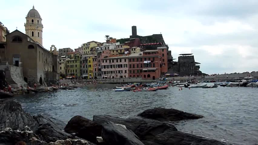 Vernazza, Cinque Terre, Italy - HD stock video clip