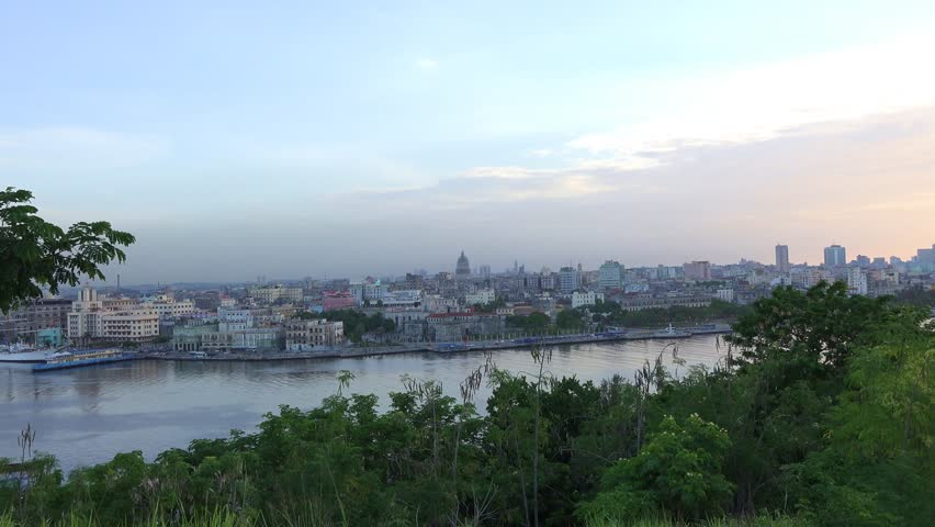 Beautiful scenes of the Havana,Cuba skyline during the afternoon hours. Images taken from el Morro a colonial Spanish fortress and landmark
